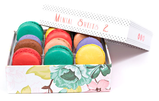 box macaroons macarons mentalism book mindreading mental sweets